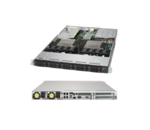 Supermicro 1028UX-LL1-B8 1U 2S Xeon E5-2600 v4/v3 2TB 10x2 5 SATA/8xSAS  2xNVMe 4xGbE R750W Web Mail Datacenter Virtualization Cloud IoT Digital  Server