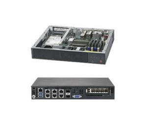 Supermicro E300-9A Intel Atom C3858 SoC Mini 1U 64GB 2x10GbE 2x10GSFP 4xGbE  2x2 5 84WDC Embedded IoT Gateway Display Kiosk Security Appliance Server
