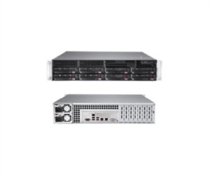 Supermicro 6028R-TR Xeon E5-2600 2S 2TB 8x3 5HS SATA 2xGbE R740W DataCenter  Virtualization Cloud IoT BigData Enterprise Database HA Storage Server