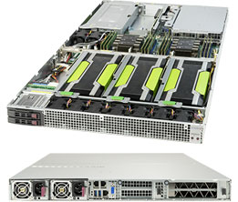 Dihuni OptiReady Supermicro 1029GQ-TRT-Q5-4 1U 4xNVIDIA Quadro P5000 GPU  Skylake Xeon Silver 4114 128GBECC 2×1TB 2x10GbE CAD O&G Deep Learning Server