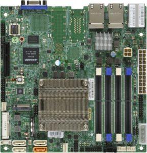 Supermicro A2SDi-LN4F Intel Atom C3850 SoC 12Core 64GB M 2 mPCIe mSATA  4xGbE Embedded IoT Gateway Kiosk Security Appliance Server Motherboard