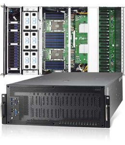 Tyan Thunder HX FA77-B7119 B7119F77V10E4HR-2T-N 10x NVIDIA Tesla GPU Ready  Barebone 4U 2S Xeon 3TB 4xNVMe 10xSATA 2x10GbE Deep Learning Server