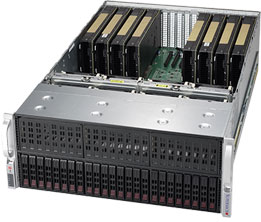 Dihuni OptiReady Supermicro 4029GP-TRT2-V100-1 4U 5x NVIDIA Tesla V100 32GB  GPU 2S Xeon 4116 2 1GHz 128GB 250GBSSD 1TBHDD 2x10GbE Deep Learning Server