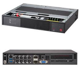 Dihuni OptiReady Supermicro E300-9A-4CN10P-32-1 Intel Atom C3558 4C SoC  Mini 1U 32GB 128GB SATADOM 8xGbE 2xGbESFP IoT Gateway Network Appliance  Server
