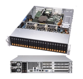 Supermicro AS-2113S-WN24RT AMD EPYC 1S 24 NVMe U 2 2TB ECC M 2 2x10GbE  R750W 2U Virtualization Cloud Hosting All Flash Storage Server
